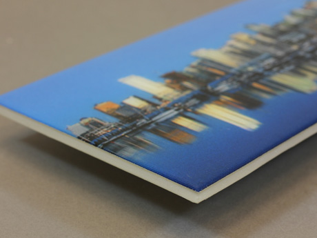 how to get rounded edges when resin-coating