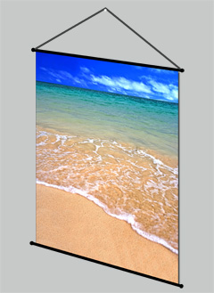 frameless picture hanging