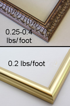 metal picture frames weigh less than wood picture frames