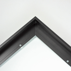 "Custom cut 3//4/"" or .75/"" wide Matte Simple Flat Black Picture Frame Moulding"
