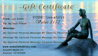 USA Fine ART Gift Certificates & Gift Cards